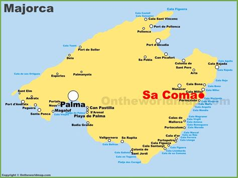 sa coma location   majorca map