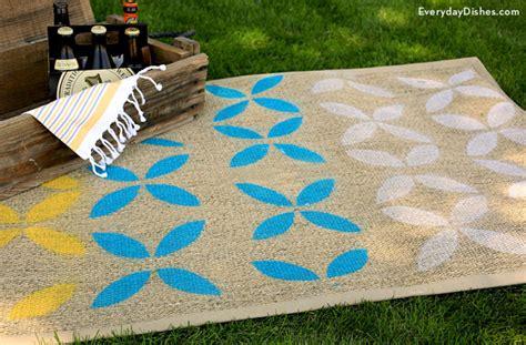 diy outdoor rug diy stenciled outdoor rug