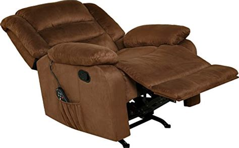 Large Recliner Chair Big Tall Brown Best Vibrating Heating