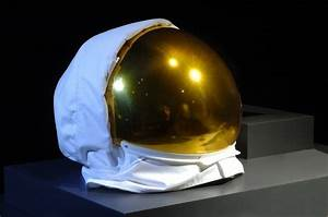 An astronaut's gold visor in the Beyond Planet Earth ...
