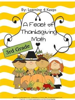 3rd grade thanksgiving math worksheets by learning 4 keeps tpt