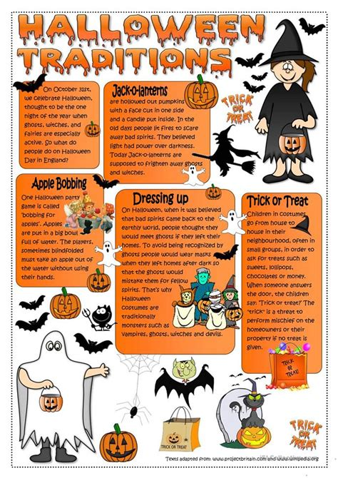 Halloween Traditions Worksheet  Free Esl Printable Worksheets Made By Teachers