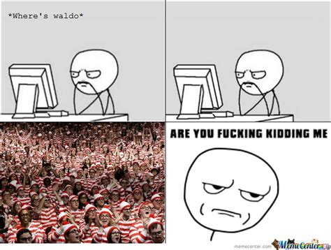 Waldo Meme - wheres waldo by ransomwriter meme center