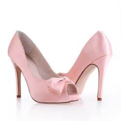 discount wedding shoes high heel peep toes bow pink cheap wedding bridal shoes flowerweddingshoes