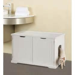 cat litter furniture cat washroom bench for large and electronic litter boxes