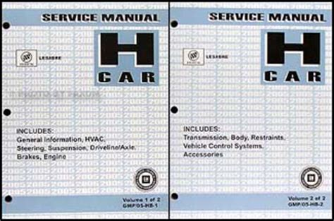 auto repair manual free download 2005 buick lesabre user handbook 2005 buick lesabre repair shop manual original 2 volume set