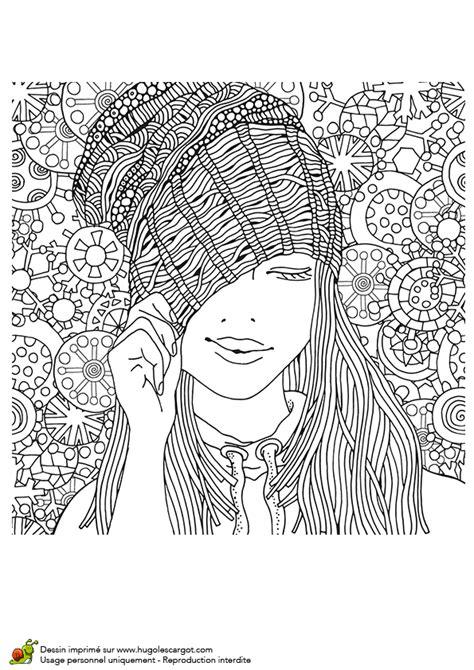 jeux de recette de cuisine dessin à colorier pour un hiver femme au bonnet