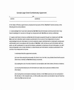 14 client confidentiality agreement templates free for Confidentiality policy template