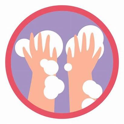Covid Manos Lavado Icon Icono Hands Washing