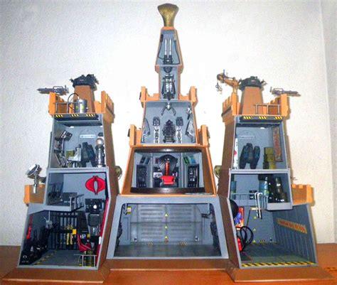 custom gi joe diorama silent castle cobra headquarters
