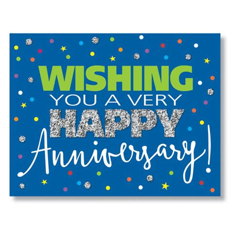 anniversary sparkle card work anniversary greeting card