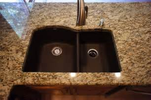 kitchen backsplash ideas with santa cecilia granite venetian gold w blanco sink tenholder heartland granite quartz