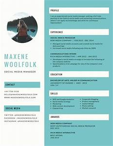 blue creative resume templates by canva With free creative resume builder