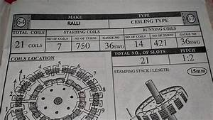Ceiling Fan Rewinding Data Pdf