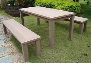 Table Et Banc En Bois : table de jardin et banc en bois ~ Melissatoandfro.com Idées de Décoration