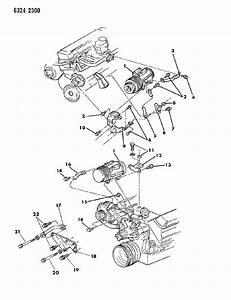 1987 Dodge D150 Mounting - A  C Compressor