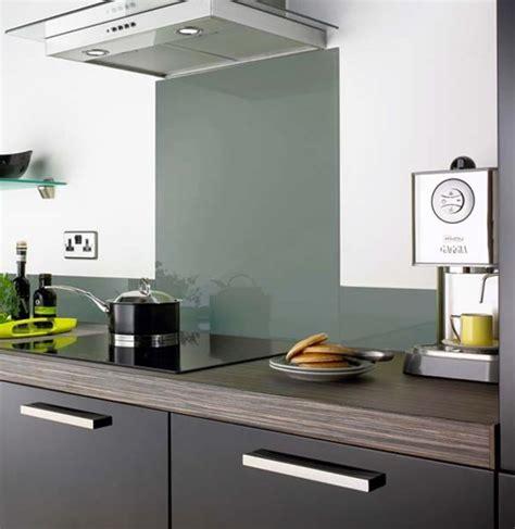 metallic silver glass splashback contemporary kitchen