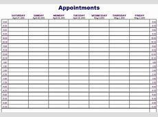 Free Weekly Appointment Calendar Template 2018 – 2018