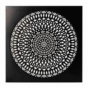Deco Murale Metal : d co murale en m tal noire 110 x 110 cm essaouira ~ Voncanada.com Idées de Décoration