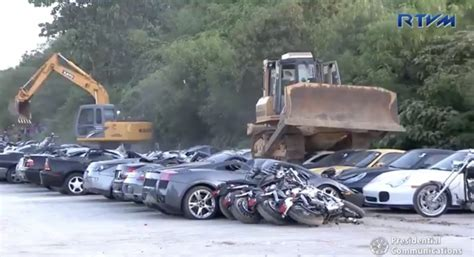 68 Cars And Eight Motorbikes Destroyed By Construction