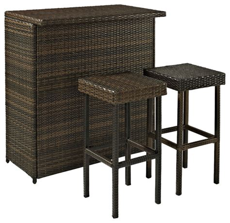 palm harbor 3 outdoor wicker bar set contemporary