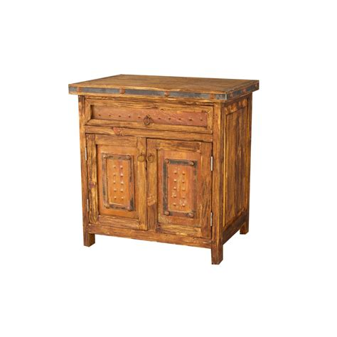 Small Rustic Bathroom Vanity by Gorgeous Small Vanity With Rustic Metal Panels For Sale