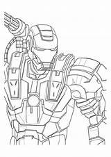 Coloring War Machine Marvel Avengers A4 Ironman Printable Iron Drawing Superheroes Parentune Worksheets Preschoolers Getdrawings sketch template