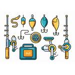 Fishing Tackle Vector Icons Clipart Graphics Edit