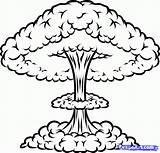 Nuclear Nuke Drawing Draw Blast Bomb Cloud Step Atomic Mushroom Explosion Atom Drawings Easy Cartoon Graffiti Weapons Drawn Clipart Dragoart sketch template