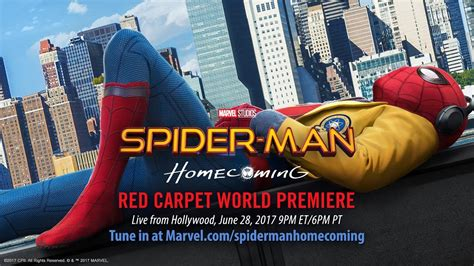 spider man homecoming red carpet premiere part  youtube