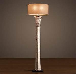 restoration hardware cast corinthian column floor lamp With restore wooden floor lamp