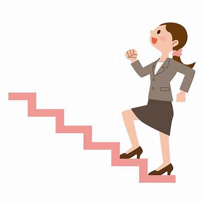 Stairs Climb Climbing Clipart Woman Business Cliparts