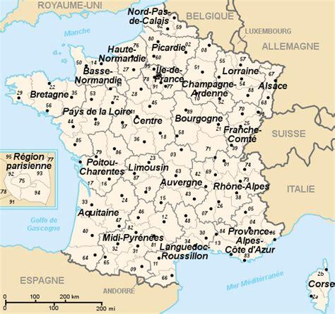Carte De Avec Régions Et Départements à Imprimer by Carte De Region Et Departement 2016 The Best Cart