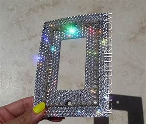 Single, Rocker, Style, Bling, Light, Switch, Plate, Cover, With, 3d, Crystal, Chain, Whats, Your, Color