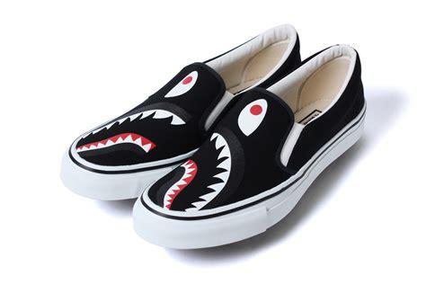 shark by bape by omg sneakers bape shark slip ons and 1st camo shark yank sta hypebeast