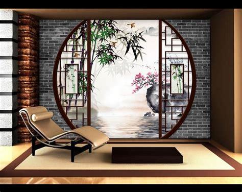 d 233 coration murale style asiatique papier peint personnalis 233 tapisserie num 233 riquesur mesure