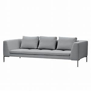Moebel24 De : sofa madison 3 sitzer webstoff stoff saia hellgrau ~ Pilothousefishingboats.com Haus und Dekorationen