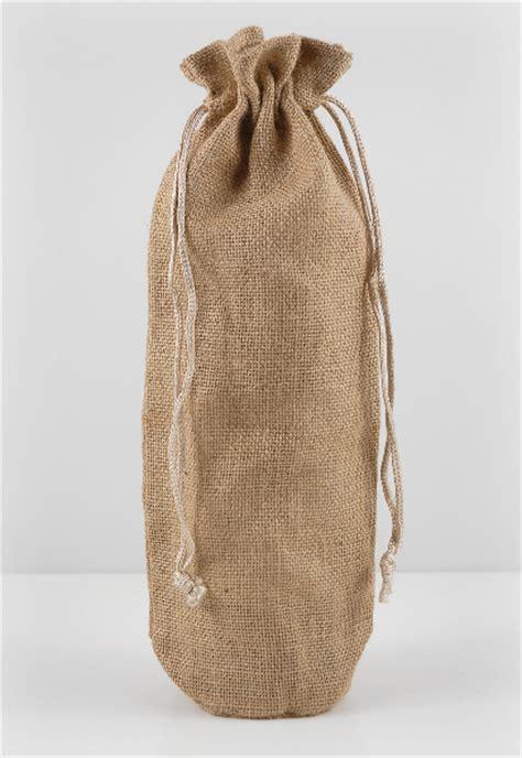 burlap wine bags drawstring pack