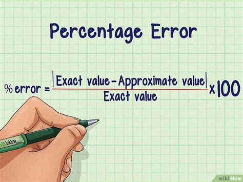 como calcular el porcentaje de error  pasos