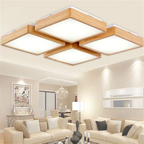 creative oak modern led ceiling lights  living room