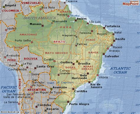 Brazil map and geographical map of Brazil