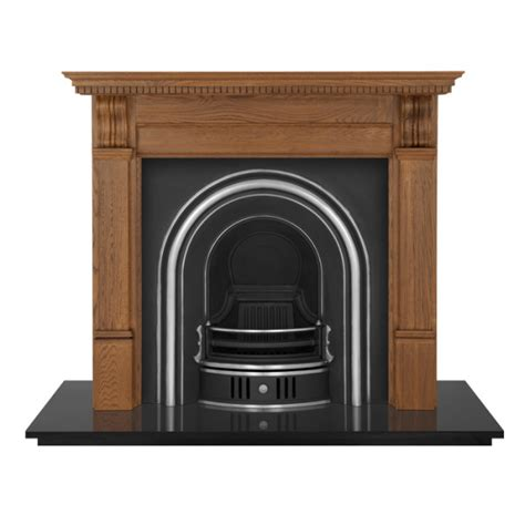 Corbel Fireplace by Carron Corbel 55 Quot Wooden Fireplace With Coleby Cast Iron