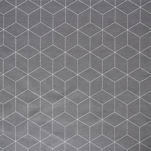 Malerwalzen Mit Muster : stoff grafische muster dekostoff w rfel grau wei geo muster ein designerst ck von ~ Sanjose-hotels-ca.com Haus und Dekorationen