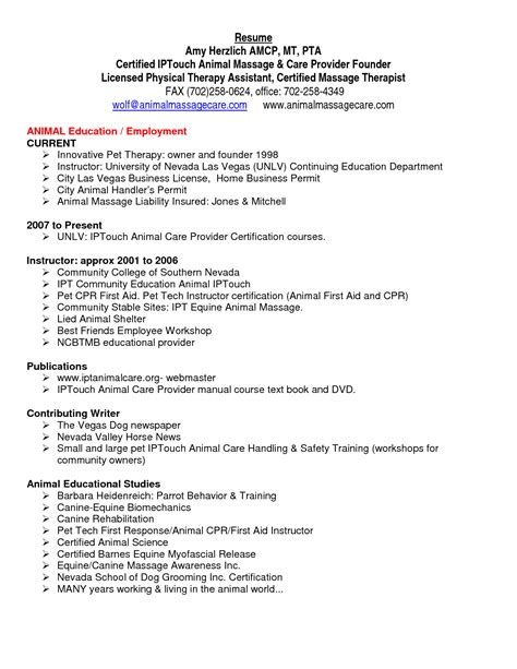 physical therapist resume template occupational therapist