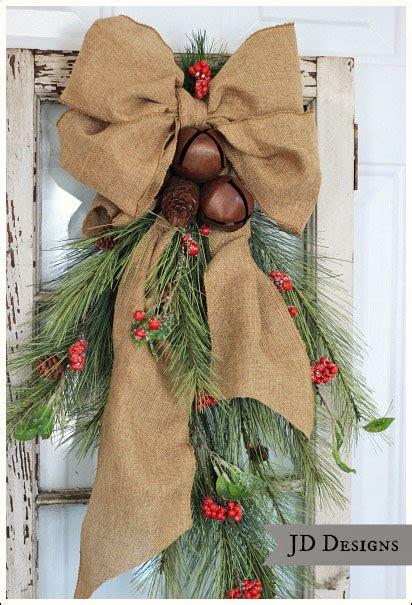 cedar pine cone  rustic bell swag hometalk