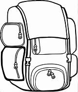 Backpack Coloring Bag Clipart Pages Camping Printable Sheet Getcolorings Clipartmag Destiny Wecoloringpage sketch template