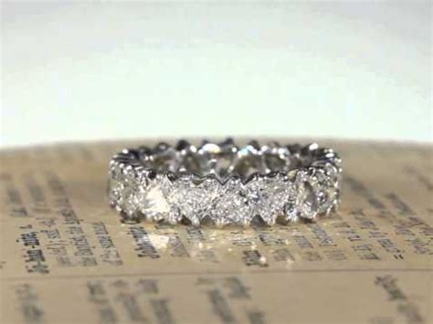 vintage french  heart shaped diamond eternity band