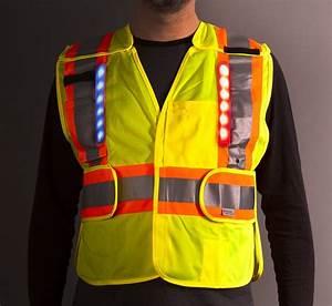 Hi Vis Vest With Led Lights Hi Vis Led Safety Vest Class 2 Highway Safety