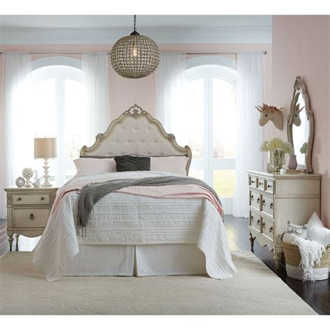 antique white traditional  piece full bedroom set
