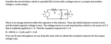 Solved Consider The Circuit Below Which Parallel